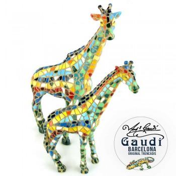 Giraffes beeldjes mozaiek Gaudi