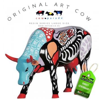 Surreal Cow Koebeeld beschilderd