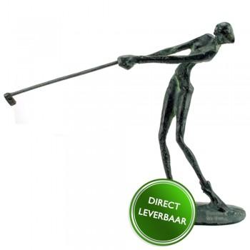 Bronzen beeldje De Golfster Galerie en Kunstwinkel Art Unica Amersfoort
