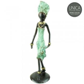 Madina beeldje brons Afrikaans vrouw