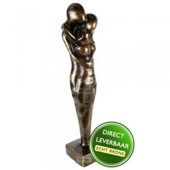 Bronzen beeld Warme Liefde 27cm