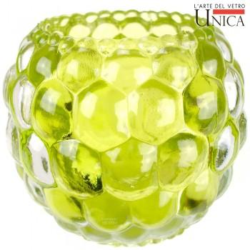 Sfeerlicht glas rond groen Unica