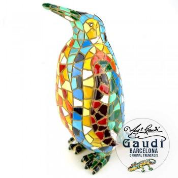 Pinguin beeldje mozaiek