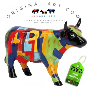 Koeienbeeldje Keramiek Art Cow Art of America Art Unica