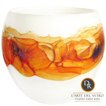 Bella Bianco Schaal glaskunst Dino Ripa