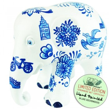 Delft Blue All Over Elephant beeldje olifant
