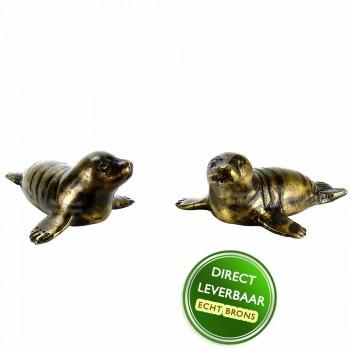 Bronzen beeldjes Zeehondjes Art Unica