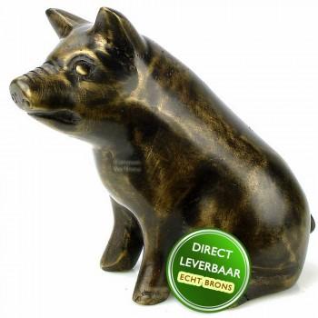 Bronzen beeld Varken Art Unica Brons Center Amersfoort