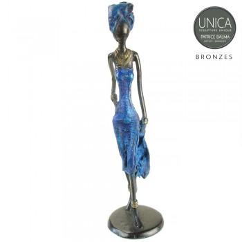 Echelle bronzen beeld Afrikaans
