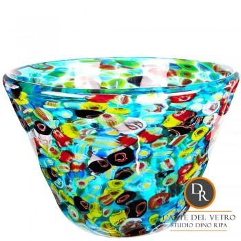 Vaas schaal met murrinen Murano glas