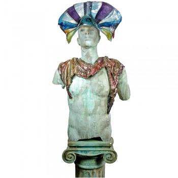 Hemera glas met keramiek sculptuur