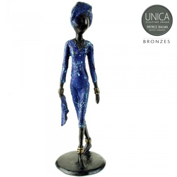 Bronzen beeldje titel Cecile Afrikaans