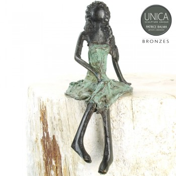 Georgette Bronzen beeldje Afrikaanse vrouw