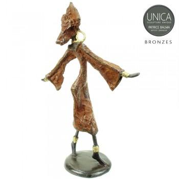 Bronzen beeld Afrikaans titel Yaelle