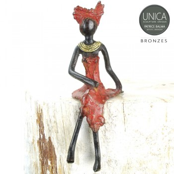 Brierose Bronzen beeldje Afrikaanse vrouw