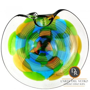 Riccia schaal glaskunst geblazen Dino Ripa