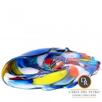 Glazen schaal glaskunst Larino