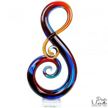 Key of Luck glassculptuur Unica