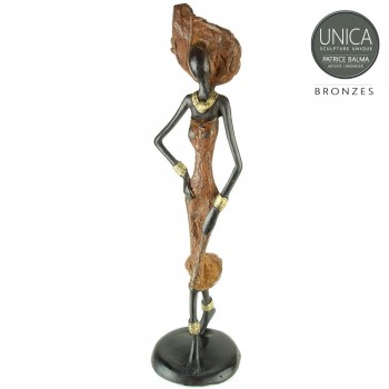 Jaimee African Beauty bronzen beeld