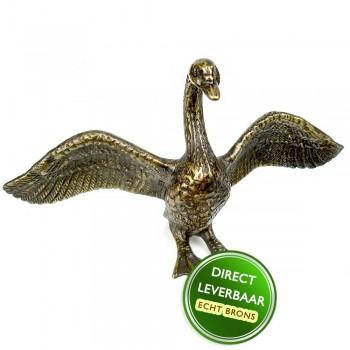 Bronzen beeldje zwaan