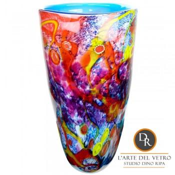 Fiuggi hoge glaskunst vaas Dino Ripa