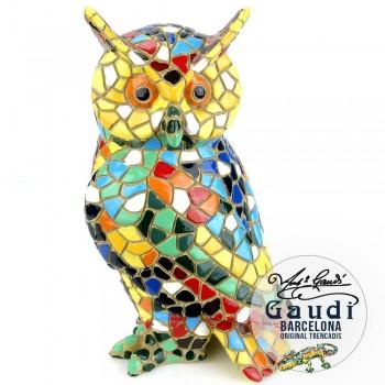 Beeldje uil mozaiek Gaudi