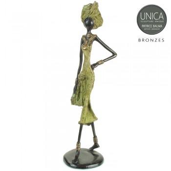 Diane Afrikaanse vrouw brons beeld