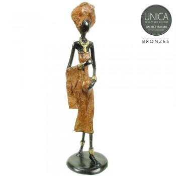 Afrikaans bronzen beeldje Assita