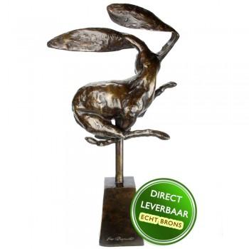 Bronzen beeld Haas