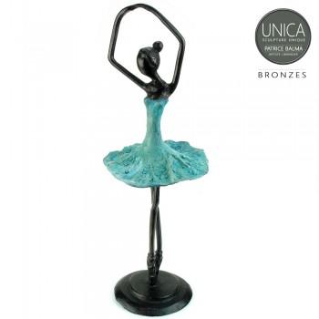 Ballerina beeldje blauw groen gepatineerd