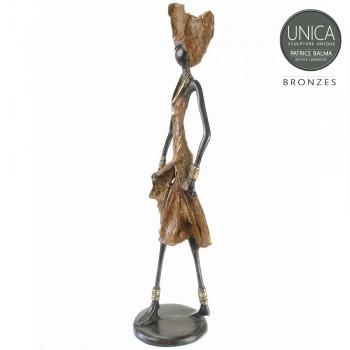 Afrikaans beeld brons Jeanine