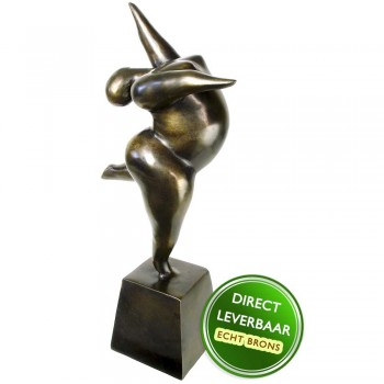 Dikke dame beeld brons