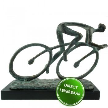 Bronzen beeldje de Wielrenner, Galerie en Kunstwinkel Art Unica Amersfoort