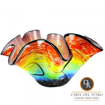 Glazen schaal glaskunst Bergamo