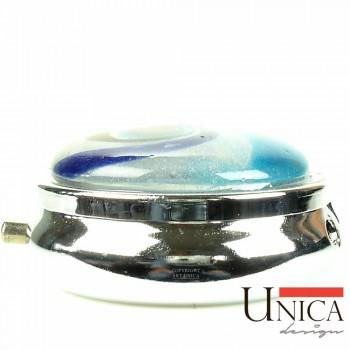 Pillendoosje rond blauw Unica Design