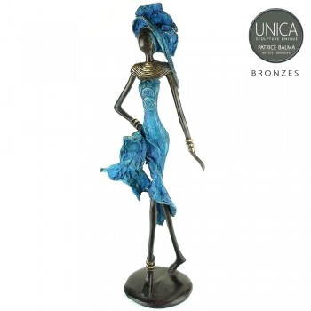 Afrikaanse vrouw brons Aida