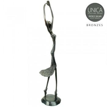 Bronzen Ballerina Afrikaans 41cm