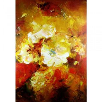 Schilderij Impressionistisch Summer Flowers John Frel inclusief sierlijst