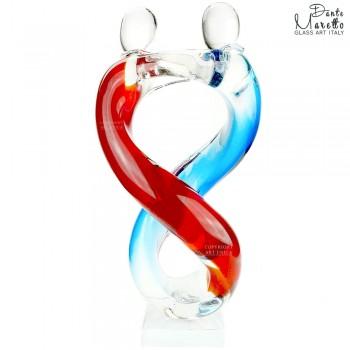 Glassculptuur Blijdschap Art Unica