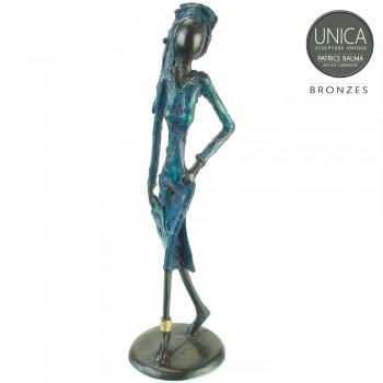 Awa bronzen beeld Afrikaanse vrouw