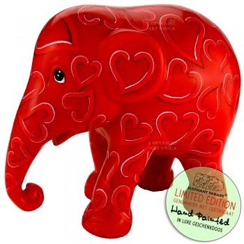 Olifant beeldje Forever Love 10cm Art Unica