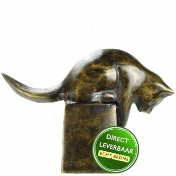 Kat beeldje brons Art Unica