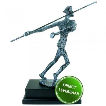 Bronzen beeldje Speerwerper
