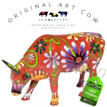 Flower Lover Cow Koebeeld beschilderd