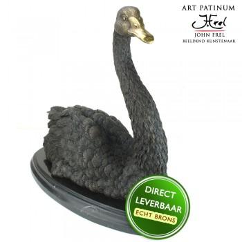 bronzen beeld zwaan Art Unica