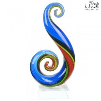 Glassculptuur Harmonie blauw