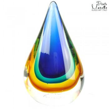 Glassculptuur Vlam gekleurd Art Unica