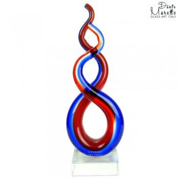 Verbinding Glassculptuur Art Unica