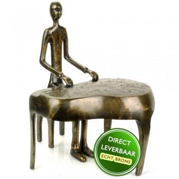 Pianist bronzen beeld Art Unica