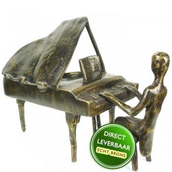 Concertpianist beeld brons
